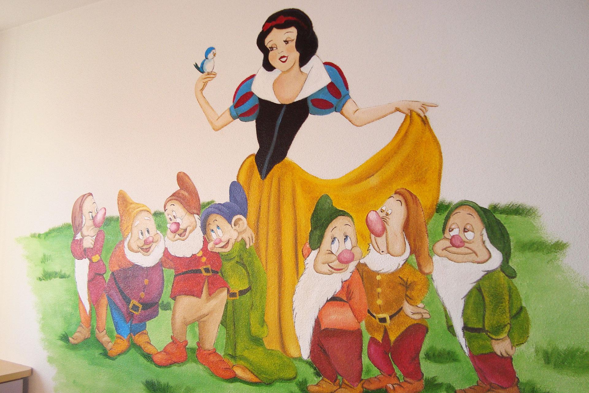 Murales para el dormitorio de las princesas de casa