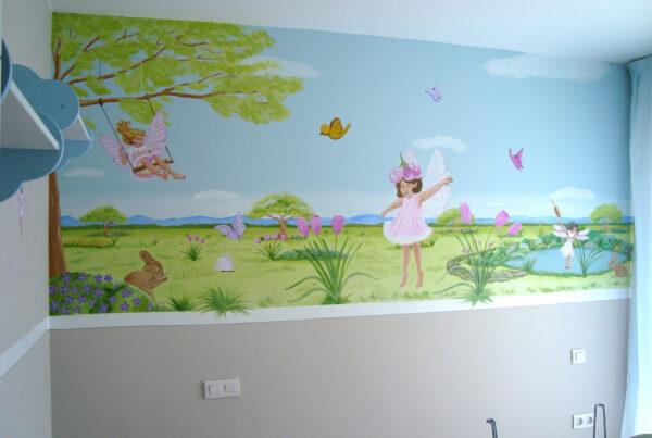 16.1 mural infantil un mundo de hadas murales y cuadros paula minguez