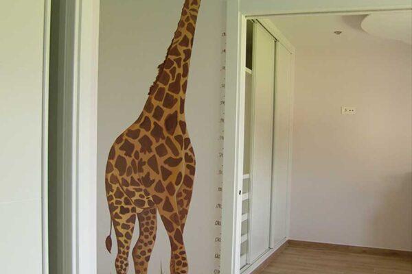 1.c Mural animales de la selva jirafa 1 1