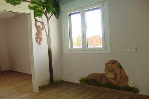 1.d Mural animales de la selva jirafa 1 1