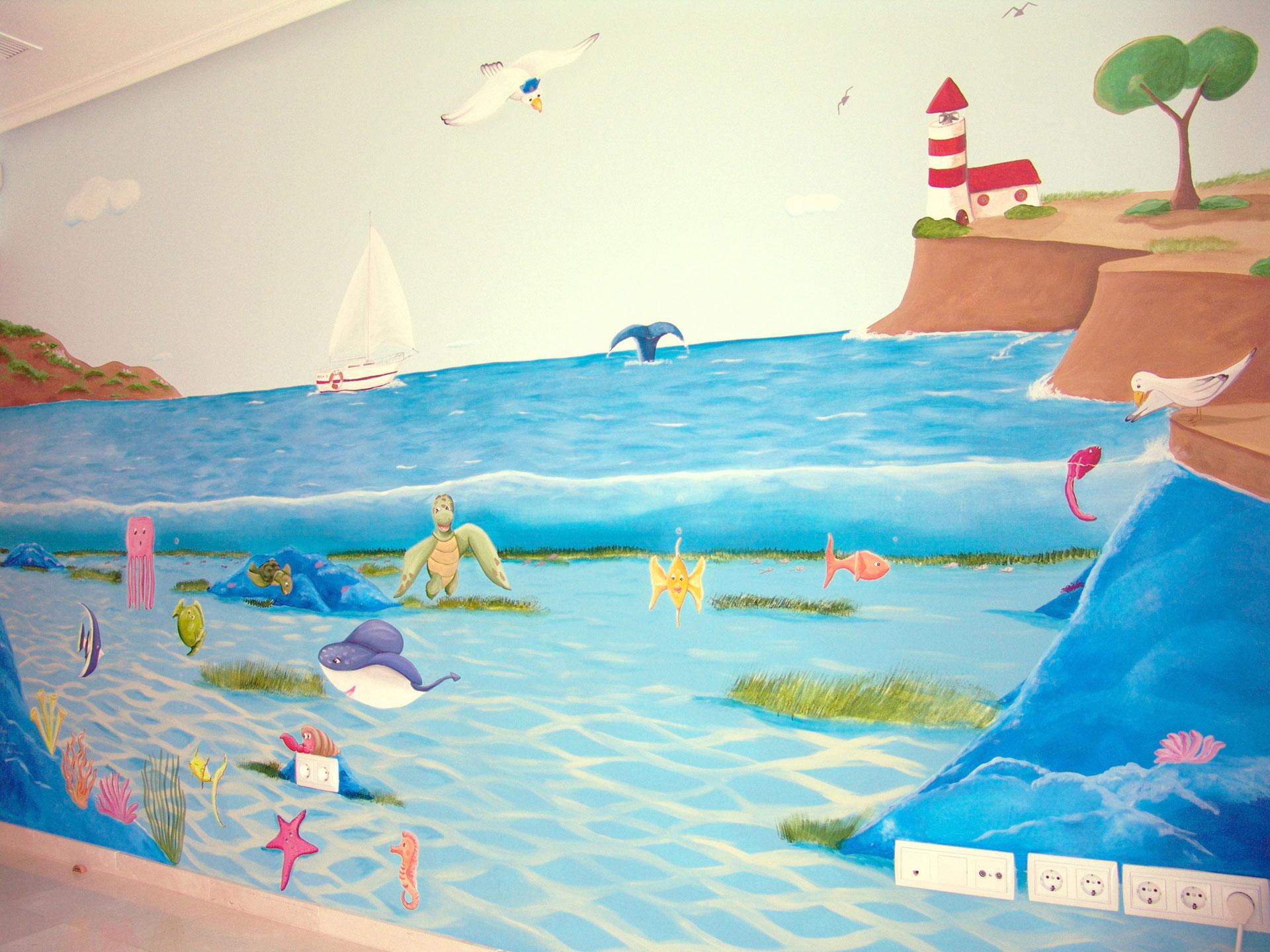 10 mural fondo del mar con peces 1