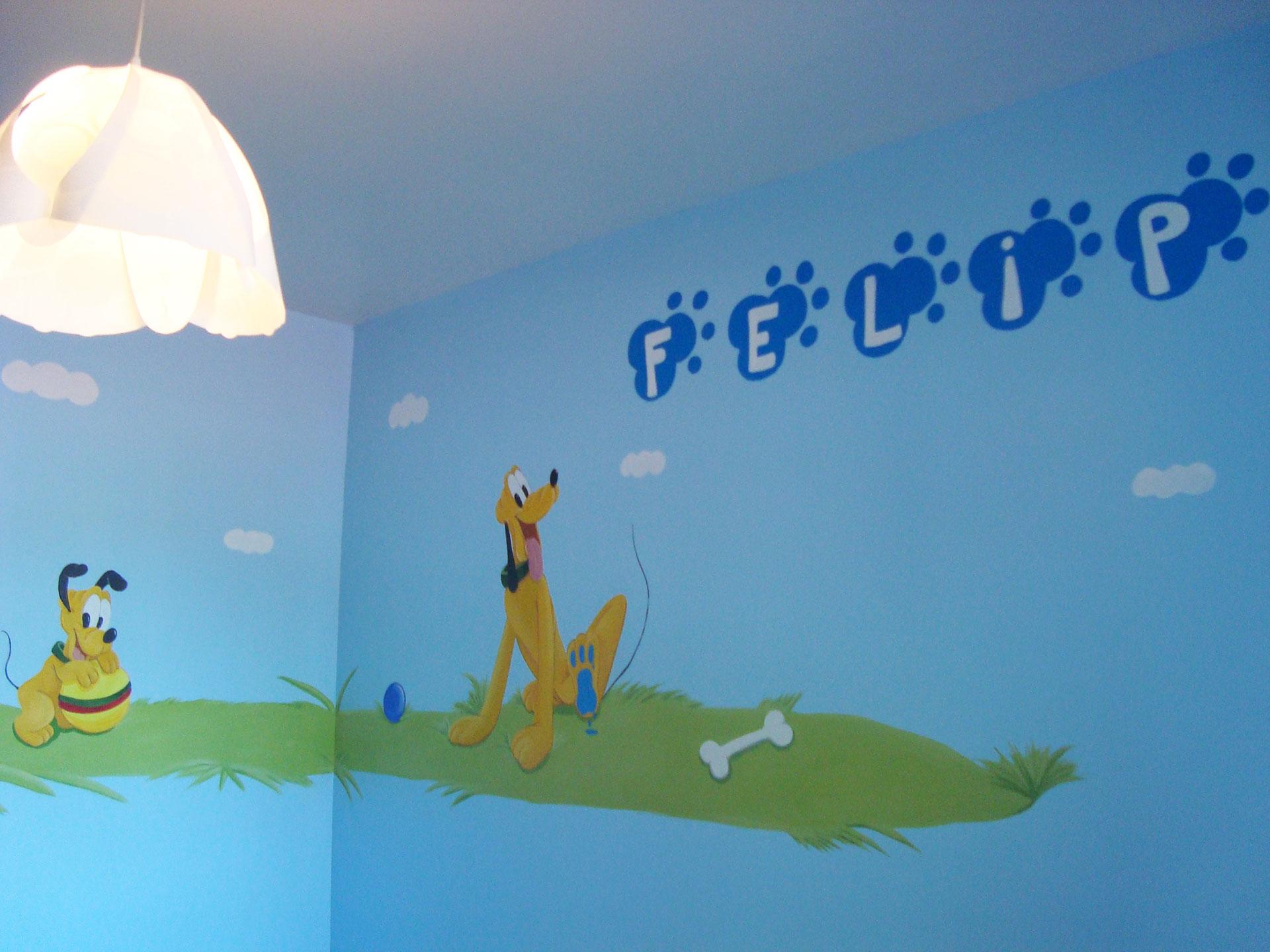 11 Mural Disney Pluto.