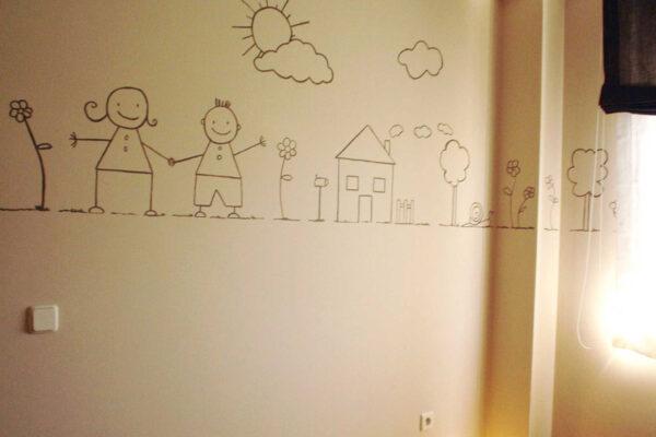 14.b mural pintado cenefa dibujos naif 1 1