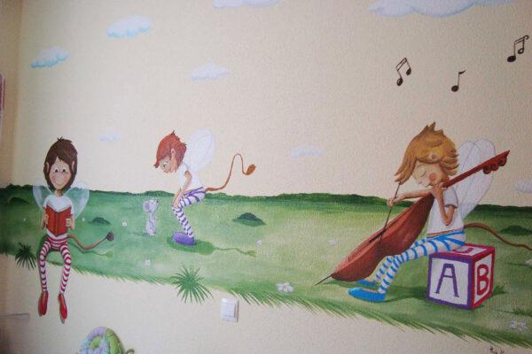 17.a mural duendes jugando 1 1