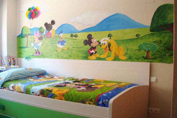 2.b Mural Disney Mickey pluto y Minnie 1 1