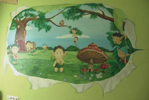 25.a Mural el mundo de los duendes toread