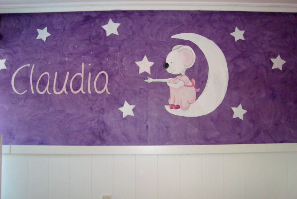 27 mural infantil la ratita y la luna murales ycuadros paula minguez
