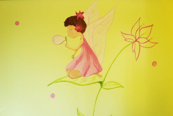 34.1 Mural infantil hada haciendo pompas murales y cuadros paula minguez