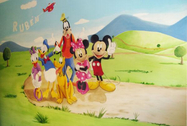5 Mural Disney Mickey y sus amigos
