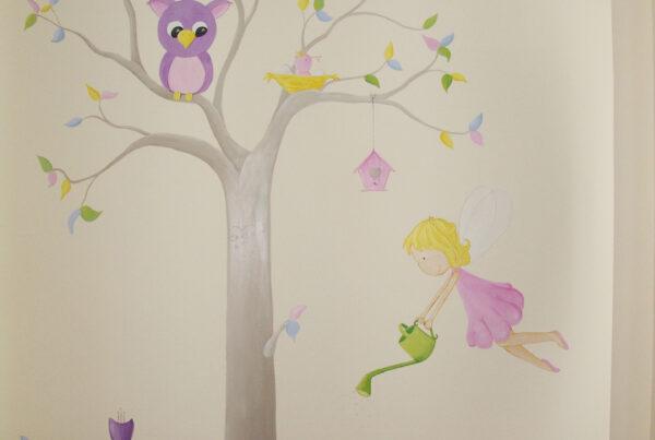 51 mural infantil arbol y hada jardinera murales y cuadros paula minguez