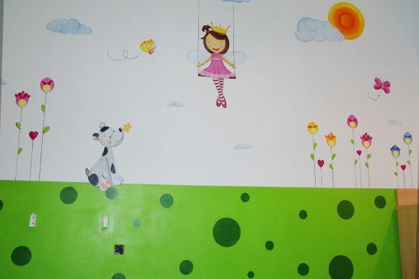 53.1 mural infantil hada en columpio murales y cuadros paula minguez