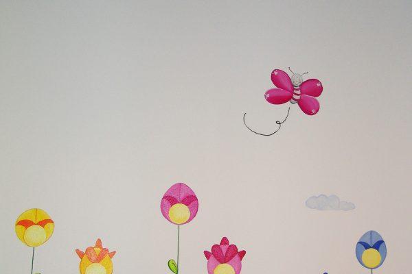 53.2 mural infantil hada en columpio murales y cuadros paula minguez