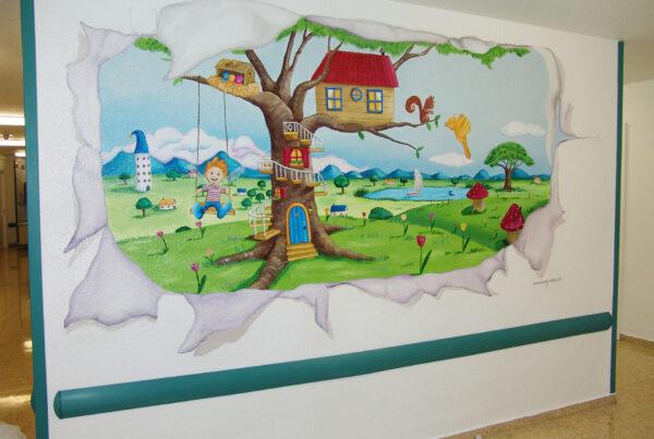 Murales infantiles Hospital 12 de Octubre 7A Paula Minguez Murales y cuadros 1
