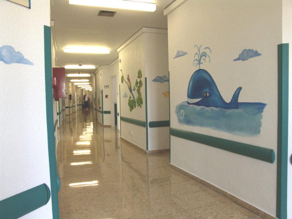 Murales infantiles hospital 12 de Octubre P9 Paula Minguez Murales y cuadros