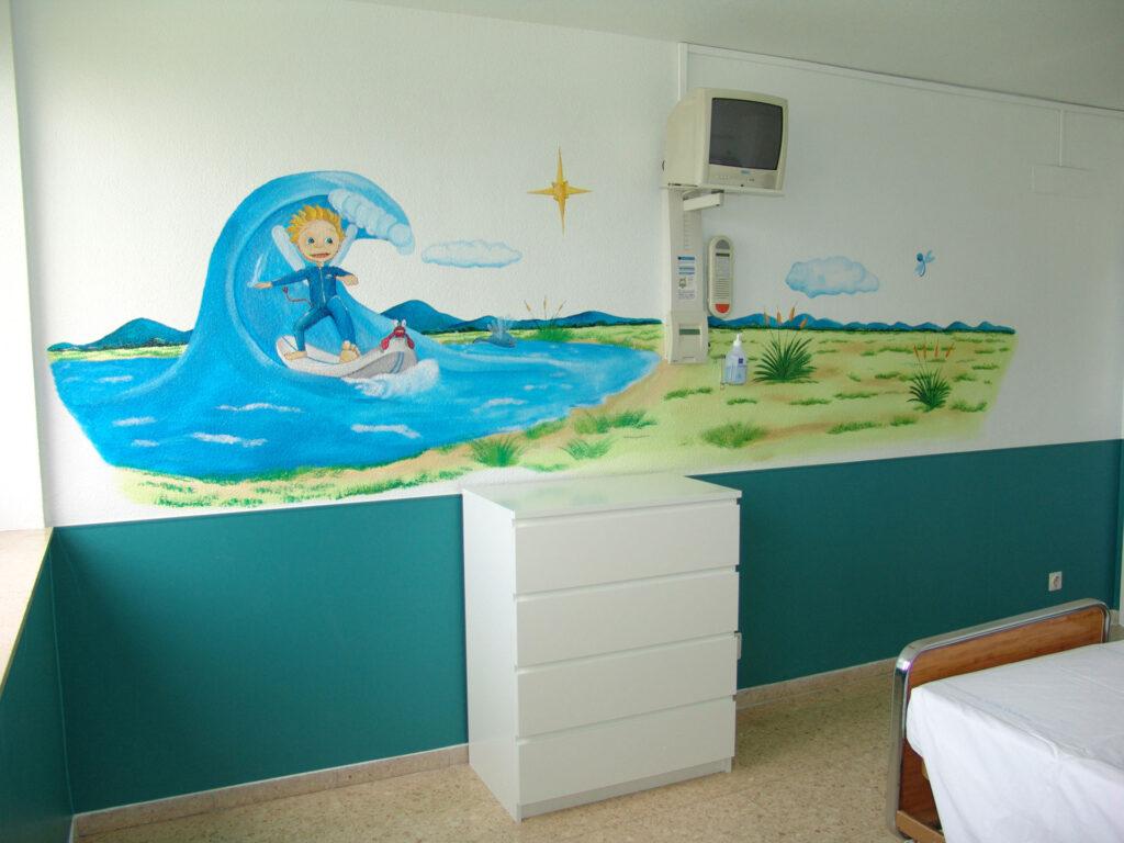 Murales infantiles Hospital 12 de Octubre 7A Paula Minguez Murales y cuadros