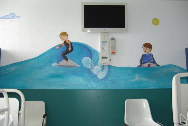 7 Murales infantiles hospital 12 de Octubre Planta 8