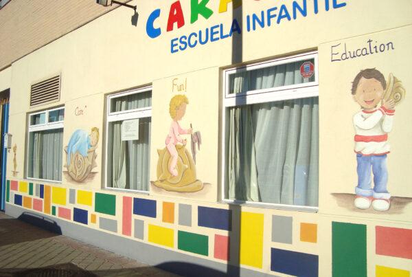 9 Murales infantiles Escuela La Caracola Paula Minguez Murales y cuadros