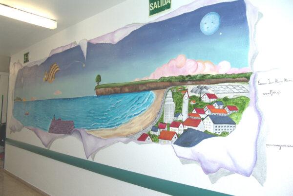 Murales infantiles hospital 12 de Octubre Planta 8