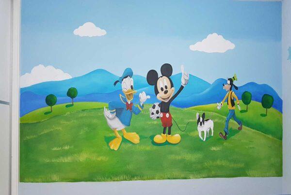 1 Mural Mickey Mouse partido de futbol