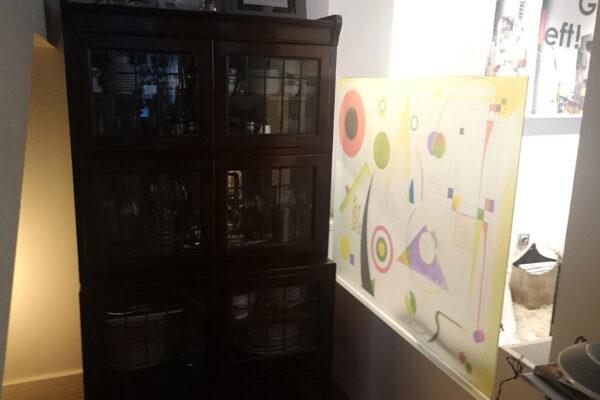 1 Vinilo personalizado cuadro abstracto sobre cristal Paula Minguez Murales y cuadros