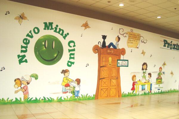 10 Vinilo personalizado para mural de proteccion de obras CC La Moraleja green Paula Minguez