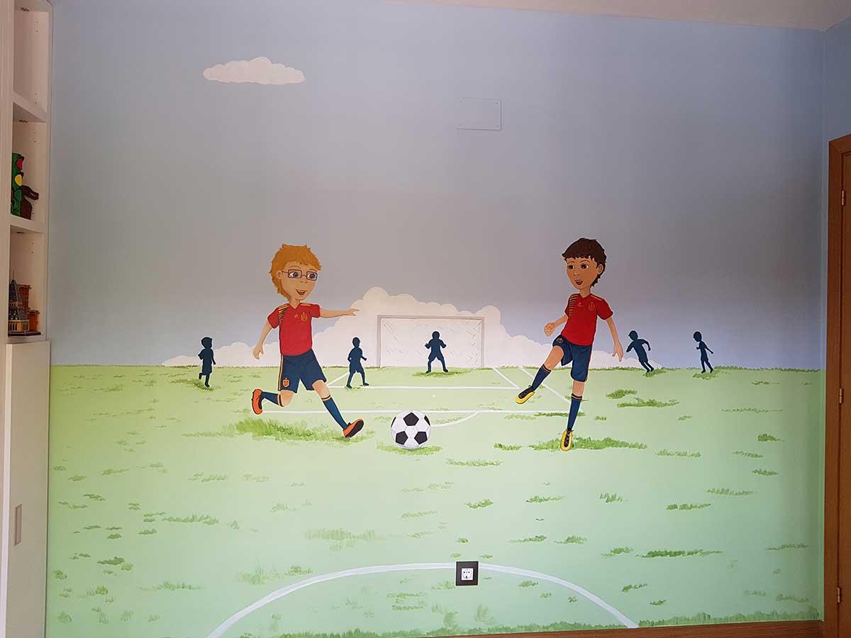 10.a Mural partido de futbol alevines Murales