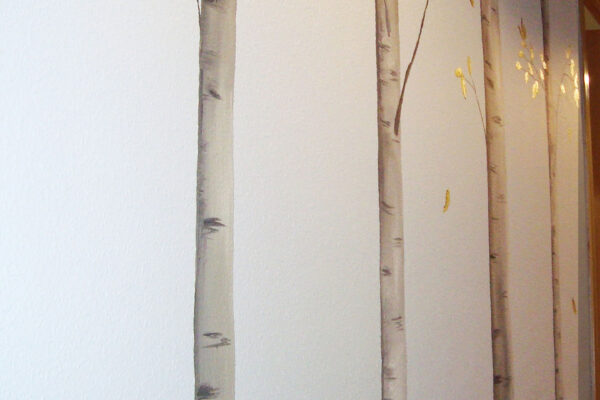 11 Mural troncos de arboles en otono pasillo 1