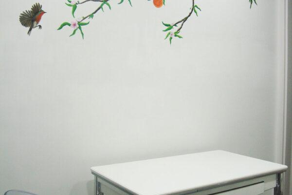 12.1 Mural rama de naranjo cocina