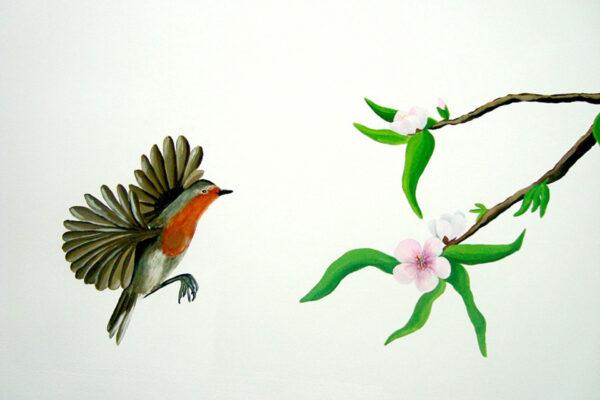 12.1 Mural rama de naranjo murales y cuadros paula miguez