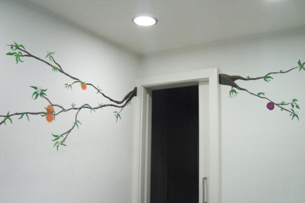 12.2 Mural rama de naranjo cocina