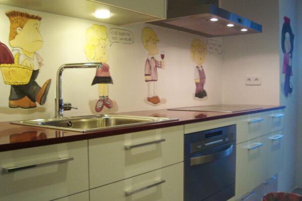 14.0 Mural cocina Mafalda y sus amigos