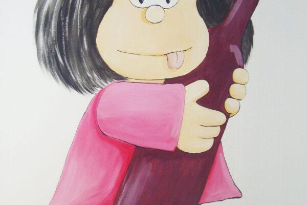 14.2 Mural cocina Mafalda y sus amigos