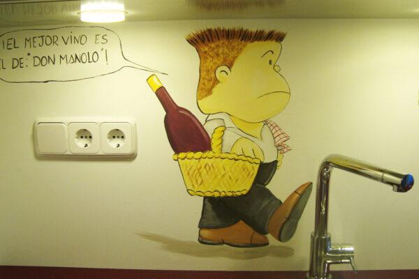 14.7 Mural decorativo cocina Mafalda y sus amigos