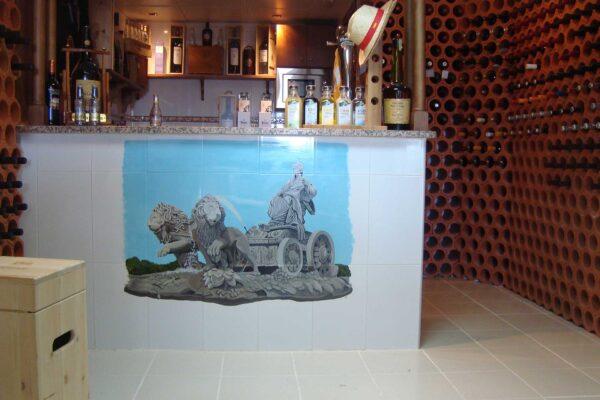 18 Mural sobre ceramica la cibeles