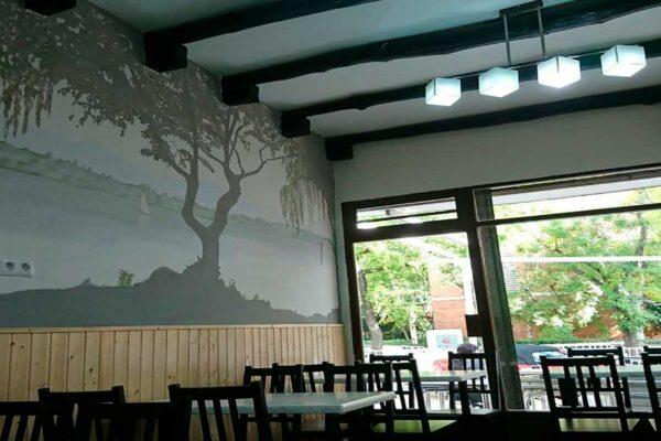 20 Mural decorativo paisaje con arboles 1