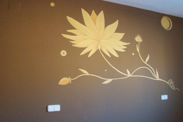 3 Mural decorativo flor modernista cabecero de cama