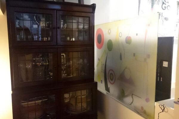 3 Vinilo personalizado cuadro abstracto sobre cristal Paula Minguez Murales y cuadros