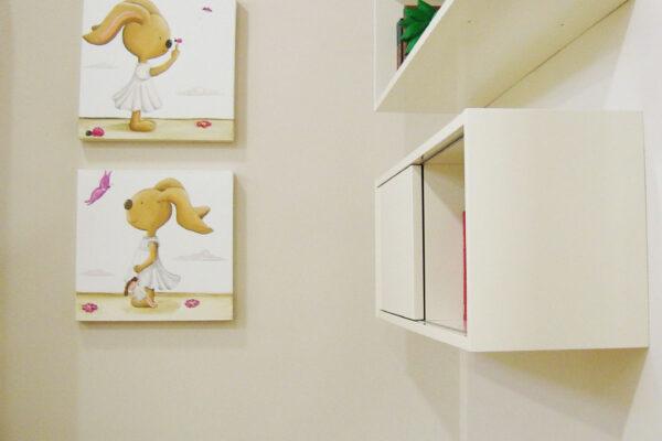 4 Cuadro infantil los conejitos Paula Minguez Murales y cuadros