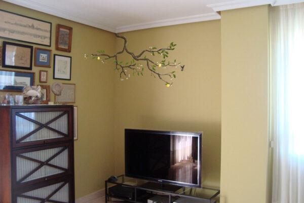 4.0 Mural decorativo limonero y colibri 1 1