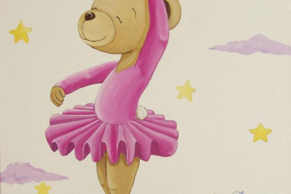 5 Cuadro infantil la osita bailarina Paula Minguez Murales y cuadros