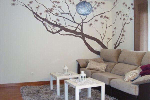 6 Mural decorativo salon arbol africano