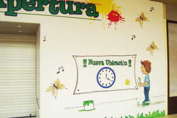 9Vinilo personalizado para mural de proteccion de obras CC La Moraleja green Paula Minguez