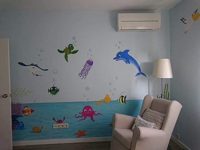 Ventajas del mural pintado respecto del vinilo